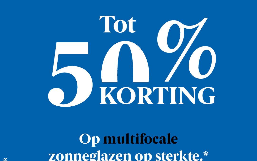 50% OP MULTIFOCALE ZONNEGLAZEN*